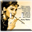 AUDREY HEPBURN BREAKFAST AT TIFFANY'S DOUBLE LIGHT SWITCH WALL PLATE HOME DECOR