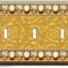 GREEK ROMAN VICTORIAN PATTERN DECORATIVE TRIPLE LIGHT SWITCH WALL PLATE COVER