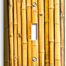 RUSTIC BAMBOO CRACKED STICKS BOARD SINGLE LIGHT SWITCH WALL PLATE BEDROOM DECOR