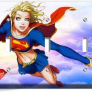 SUPERGIRL CARTOON COMICS TRIPLE LIGHT SWITCH WALL PLATE COVER GIRL BEDROOM DECOR
