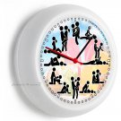 SEX POSITIONS KAMA SUTRA FUNNY WALL CLOCK BEDROOM DORM ROOM HOME OFFICE DECOR