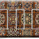 TUSCAN KITCHEN TILE PATTERN PRINT TRIPLE GFCI LIGHT SWITCH WALL PLATE COVER ART