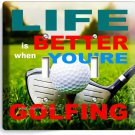 LIFE is BETTER when GOLFING GOLF DOUBLE LIGHT SWITCH WALL PLATE COVER ROOM DECOR