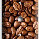 FRENCH ROAST COFFEE BEANS LIGHT DIMMER VIDEO CABLE WALL PLATE COVER HOME DECOR