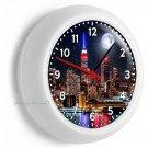 EMPIRE STATE BUILDING NIGHT SKYLINE NY NEW YORK CITY MANHATTAN WALL CLOCK DECOR