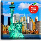 NYC NEW YORK CITY STATUE OF LIBERTY DOUBLE LIGHT SWITCH WALL PLATE COVER DECOR