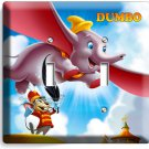 DUMBO ELEPHANT & MOUSE BOYS GIRLS BEDROOM DOUBLE LIGHT SWITCH COVER WALL PLATE