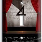TV ROOM HOME MOVIE THEATER BIG SCREEN SINGLE LIGHT SWITCH WALL PLATE COVER DECOR