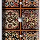 TUSCAN KITCHEN TILE PATTERN PRINT LIGHT DIMMER/CABLE WALL PLATE COVER ART DECOR