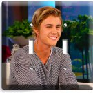 JUSTIN BIEBER SMILE TATTOOS INTERVIEW DOUBLE LIGHT SWITCH WALL PLATE COVER TEEN