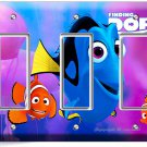 FINDING DORY PINK JELLYFISH NEMO TRIPLE GFCI LIGHT SWITCH WALL PLATE KIDS ROOM