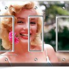 MARILYN MONROE SMILING FLOWER TRIPLE GFCI LIGHT SWITCH WALL PLATE COVER DECOR