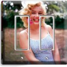 MARILYN MONROE SMILING FLOWER DOUBLE GFCI LIGHT SWITCH WALL PLATE COVER DECOR