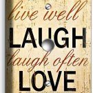 LIVE LAUGH LOVE RUSTIC COUNTRY LIGHT DIMMER CABLE WALL PLATE BEDROOM LIVING ROOM