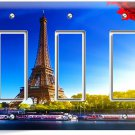 EIFFEL TOWER PARIS LOVE CITY TRIPLE GFI LIGHT SWITCH WALL PLATE COVER HOME DECOR