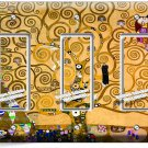 GUSTAV KLIMT TREE OF LIFE GOLD PAINTING TRIPLE GFI LIGHT SWITCH WALL PLATE COVER