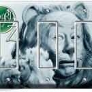 COWARDLY LION BERT LAHR WIZARD OF OZ TRIPLE GFCI LIGHT SWITCH WALL PLATE DECOR