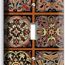 TUSCAN KITCHEN TILE PATTERN PRINT SINGLE LIGHT SWITCH WALL PLATE COVER HOME ART