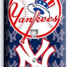 BASEBALL NEW YORK YANKEES TEAM LOGO PHONE TELEPHONE WALL PLATE COVER ROOM DECOR