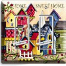 RUSTIC COUNTRY BIRD HOUSES SWEET HOME DOUBLE GFCI LIGHT SWITCH WALL PLATE COVER