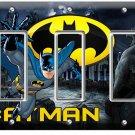 BATMAN FOREVER SUPERHERO TRIPLE GFCI LIGHT SWITCH WALL PLATE COVER BOYS BEDROOM