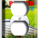 LIFE is BETTER GOLFING GOLF COURSE DUPLEX OUTLET WALL PLATE COVER HOME ART DECOR
