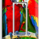 TROPICAL PARROTS LOVE BIRDS SINGLE GFCI LIGHT SWITCH WALL PLATE COVER HOME DECOR