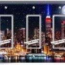 MANHATTAN NIGHT SKYLINE STARS MOON TRIPLE GFI LIGHT SWITCH WALL PLATE ROOM DECOR