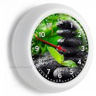 FENG SHUI STONES LUCKY GREEN BAMBOO WALL CLOCK BEDROOM ROOM HOME OFFICE DECOR