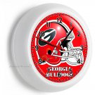GEORGIA BULLDOGS UNIVERSITY FOOTBALL TEAM LOGO WALL CLOCK MAN CAVE ROOM MAN CAVE