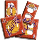 LOS ANGELES LAKERS NBA BASKETBALL LOGO CHAMPION LIGHT SWITCH OUTLET COVER PLATE