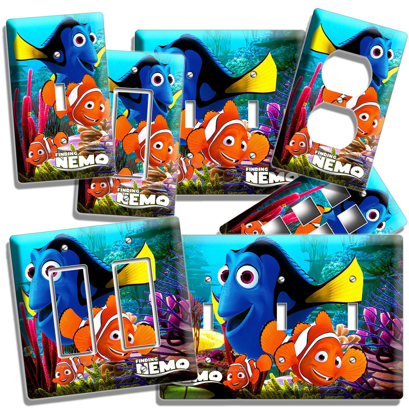 Finding Nemo Dory Marlin Ocean Light Switch Wall Plate