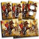 MEDIEVAL KNIGHTS LIGHT SWITCH OUTLET COVER WALL PLATE BOYS GAME ROOM DECORATION