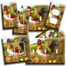ROOSTER CHICKS FRENCH COUNTRY FARM LIGHT SWITCH PLATE OUTLET KITCHEN DINER ROOM