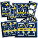 UNIVERSITY of MICIGAN WOLVERINE FOOTBALL TEAM LIGHT SWITCH OUTLET ART WALL PLATE
