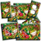 CUTE EXOTIC RAINFOREST TROPICAL TREE FROGS LIGHT SWITCH OUTLET WALL PLATE COVER