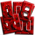 BEAUTIFUL BOUQUET OF RED ROSES LIVING ROOM DECORATION LIGHT SWITCH OUTLET PLATES
