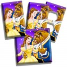 DISNEY BEAUTY AND THE BEAST DANCING LIVING ROOM DECOR LIGHT SWITCH OUTLET PLATES