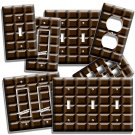 DARK CHOCOLATE BAR CUBES THEME LIGHT SWITCH OUTLET WALL PLATE KITCHEN HOME DECOR