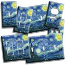 VAN GOGH STARRY NIGHT SKY PAINTING LIGHT SWITCH OUTLET WALL PLATE FINE ART COVER