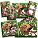 SAN FRANCISCO 49ERS NFL FOOTBALL TEAM LOGO LIGHT SWITCH OUTLET PLATE BOYS ROOM