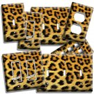 LEOPARD ANIMAL SKIN PRINT THEME LIGHT SWITCH OUTLET WALL PLATE ROOM HOME DECOR