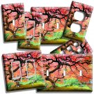 VIBRANT RED MAPLE JAPANESE TREE LIGHT SWITCH OUTLES WALL PLATE COVER ROOM DECOR