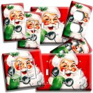 RETRO CHRISTMAS SANTA CLAUS ON A PHONE LIGHT SWITCH OUTLET WALL PLATE HOME DECOR