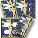 NEW DISNEY TINKERBELL LIGHT SWITCH POWER OUTLET WALLPLATE COVER GIRLS ROOM DECOR