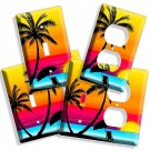 PARADISE PALM BEACH ROMANTIC SUNSET LIGHT SWITCH OUTLET WALL PLATE COVER SUNRISE