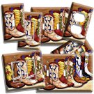 COWBOY BOOTS AMERICANA LIGHT SWITCH OUTLET WALL PLATE ROOM SOUTHERN HOME DECOR