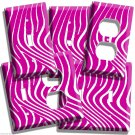 PINK ZEBRA STRIPES BOUTIQUE STYLE LIVING ROOM DECOR LIGHT SWITCH OUTLET PLATES