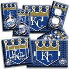 KANSAS CITY ROYALS BASEBALL TEAM LIGHT SWITCH OUTLET COVER WALL PLATE MEN CAVE