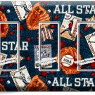 BASEBALL VINTAGE ALL STAR TRIPLE ROCKER LIGHT SWITCH POWER WALL PLATE ROOM DECOR